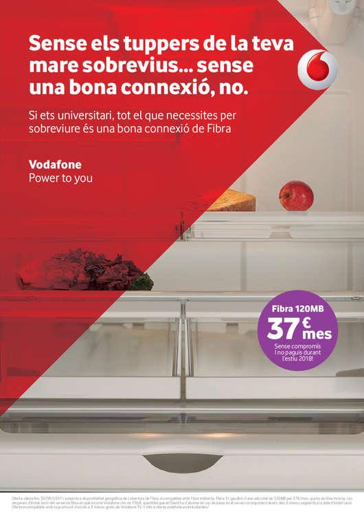 Ofertas de Vodafone, Sense els tuppers de la teva mare sobrevius... sense una bona conexió, no