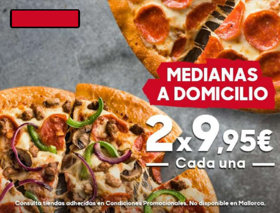 Ofertas de Pizza Hut, Medianas