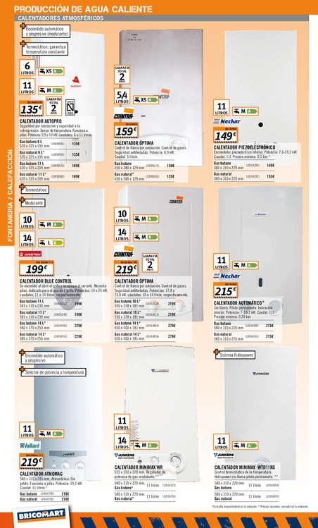 Comprar calentador de gas barato en valencia ofertia for Telefono bricodepot valencia