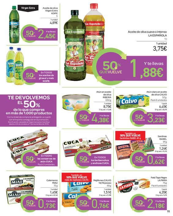 Ofertas de Carrefour, %50 Bueltan