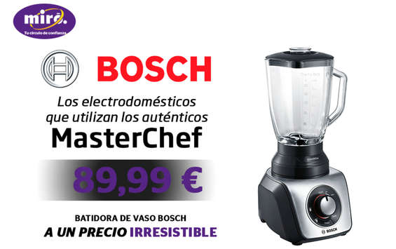 Ofertas de Miró, Los electrodomésticos que utilizan los auténticos MasterChef